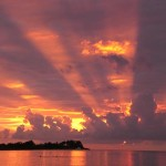 Sonnenuntergang-Jamaika